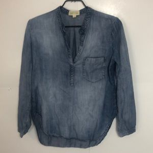 Anthro Cloth & Stone Shirt pullover Medium Blue